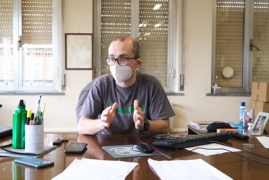 Paolo Mayer durante l'intervista